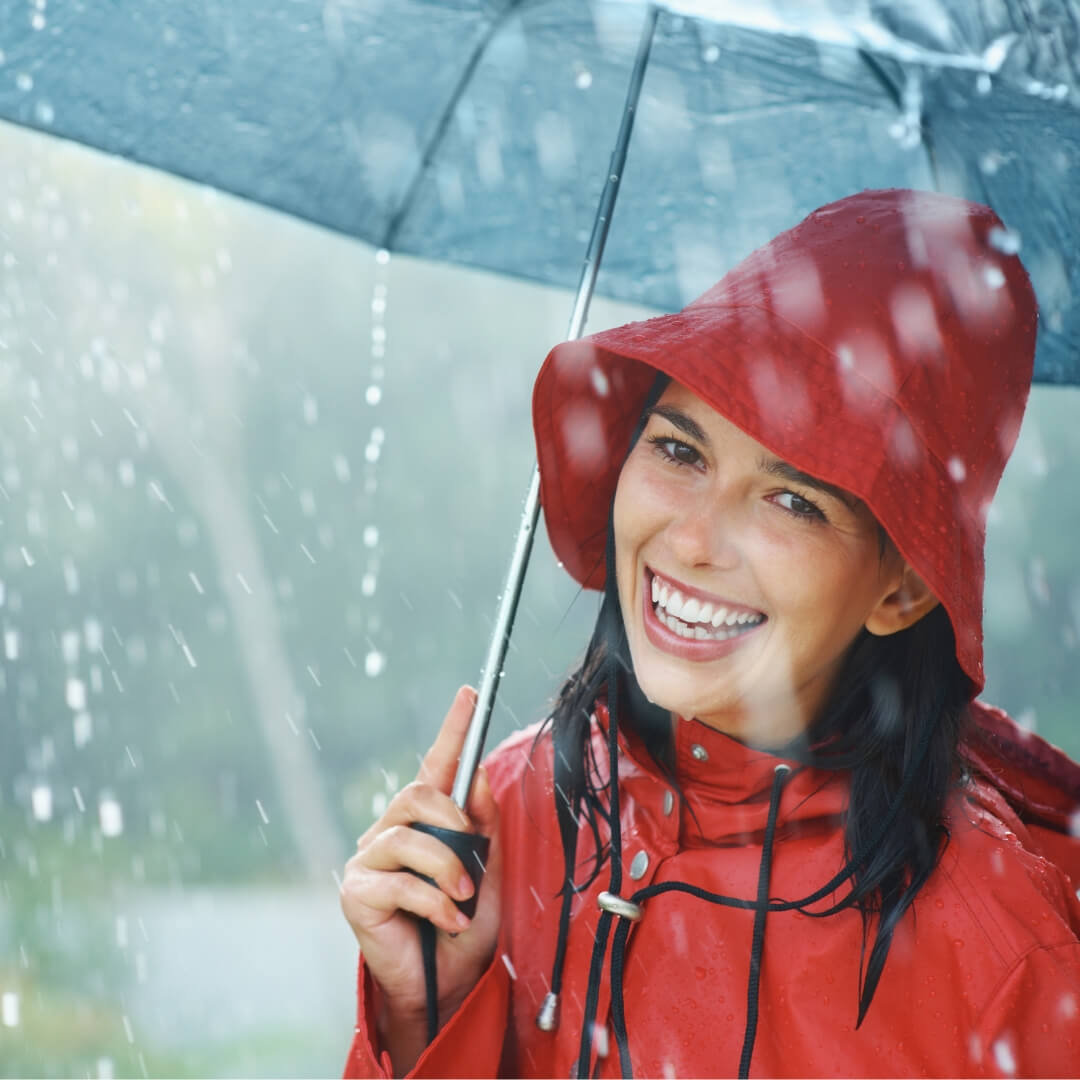 smile in the rain
